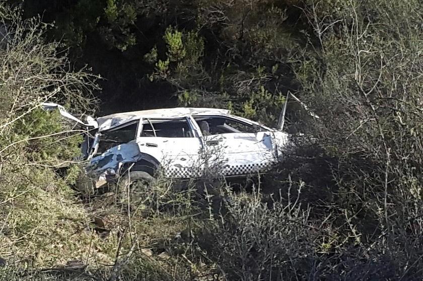 Así quedó el vehículo tras el accidente. Foto: Gentileza