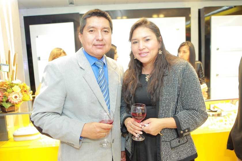 Edson Coca y Julieta Arraya.