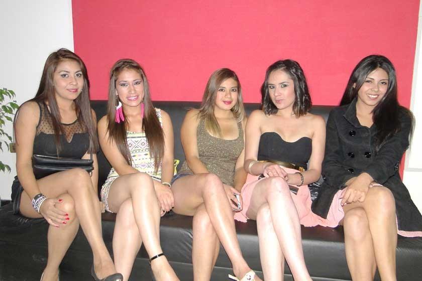 Xiomara Soliz, Mishel Cuba, Gabriela Melcón, Nicole López y Alejandra Sequeiros.