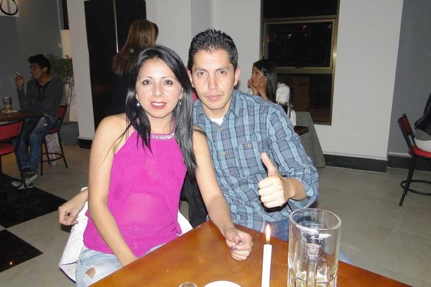 Dafni Arias y Ronald Almendras.