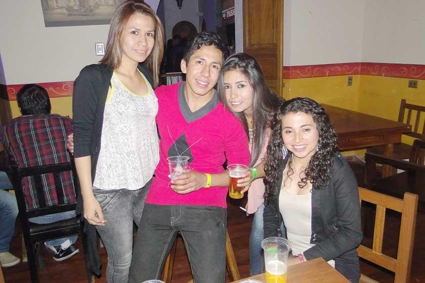 Yajaira Poppe, Jorge Almaraz, Carla Michel y Nadir Ortuño.