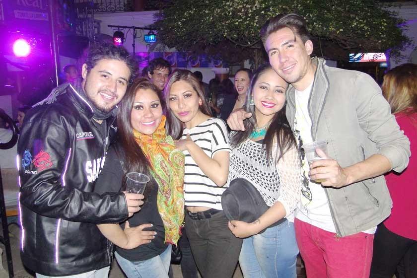 Fabián Villagómez, Yara Torricos, Celiana Fernández, Yesenia Arellano y Cristian Montero.