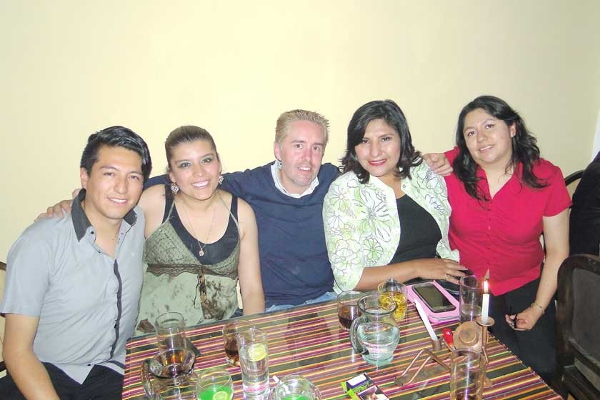 Israel Sahonero, Gabriela Sahonero, Cyril Lottici, Maritza Blanco y Zulema Torres.