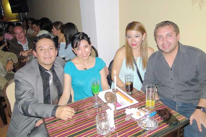 Fabricio Vargas, Rosa de Vargas, Carolina Saiquita y Carlos Auza