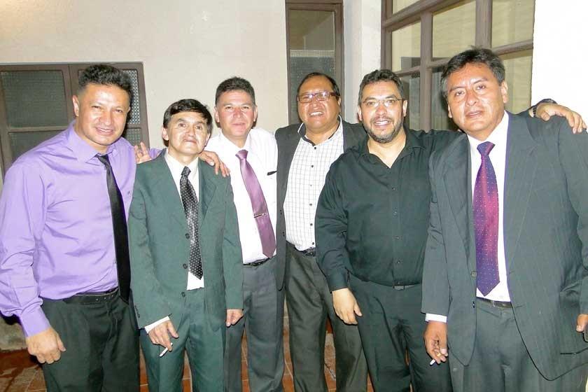 Jose Ríos, Gustavo Hevia, Adolfo Poveda, Carlos Vargas, Jorge Zapata y Ariel Ramírez.