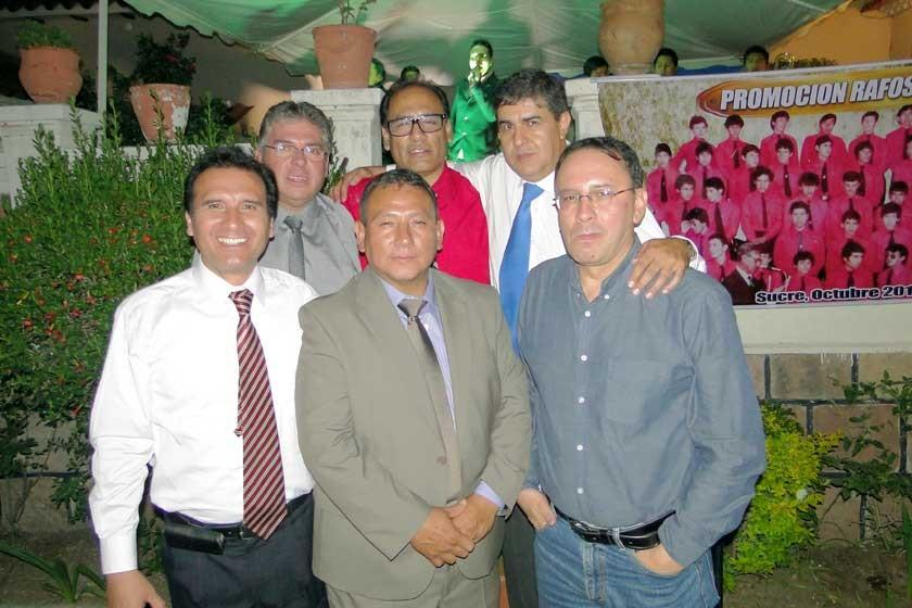 Alfredo Zárate, Gilmar Quilla, Rodolfo Zegada, Manolo Llorenty, Martín Vilar y Luís Solares.