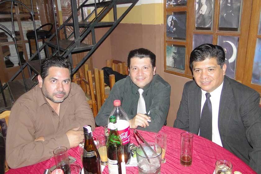 Marcelo Loayza, Daniel Riera y Alex Villegas.