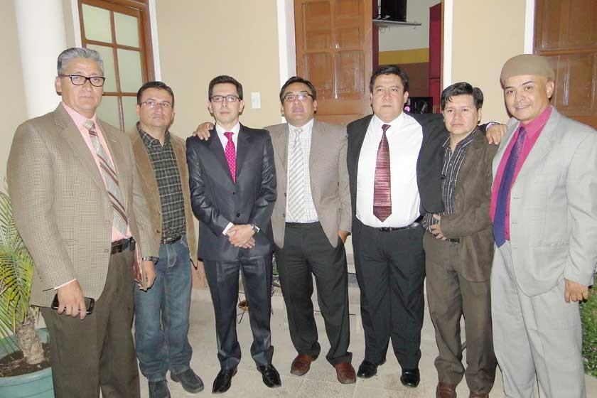 Franklin Miranda, Marcelo Nava, Manuel Campos, Rodolfo Saavedra, Alex Portugal, Herbert Bejarano y Camilo Salinas