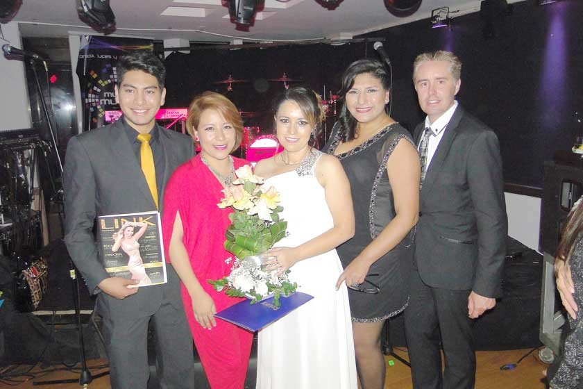 Daniel Candia, Karina Cardenas, Judith Barrero, Maritza Blanco y Cyril Lottici.