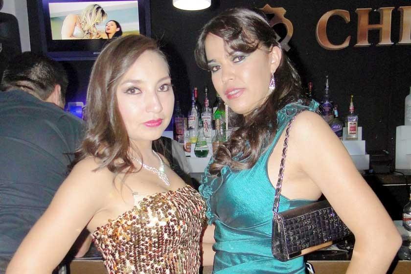 Marycel Palaguerra y Elena Larrazabal.