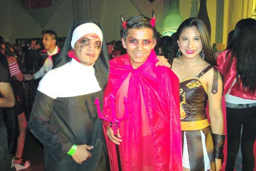 Álvaro Gareca, Daniel Mamani y Florencia Ortiz.