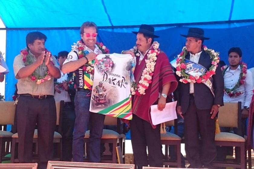 Wálter Nosiglia durante el acto que se realizó en Yotala. Foto: José Gutiérrez