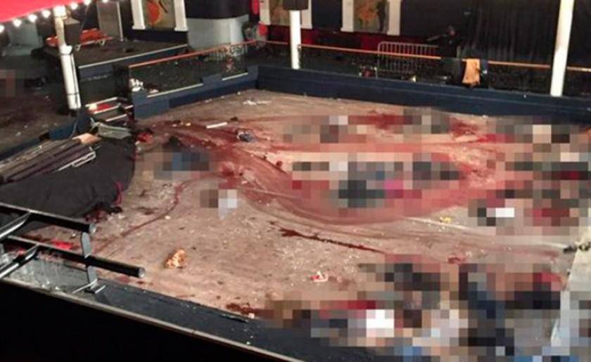 Así quedó el interior de Bataclan tras el tiroteo. Foto: Internet