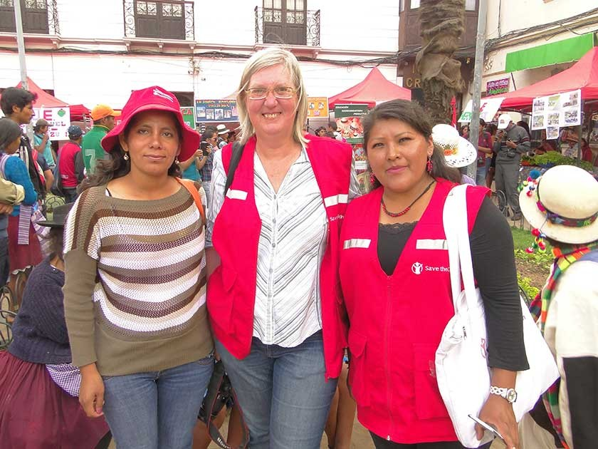 ONG Save The Children: Melfy Vidal, Lieve Demaegd y Lourdes Quispe.