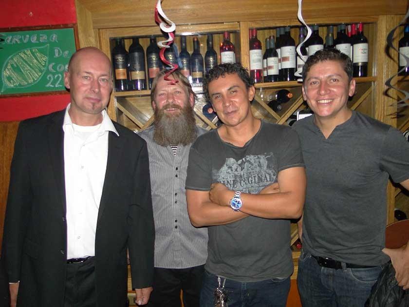 Nico Koehorst, Dirk Dekker, René Céspedes  y Marco Prado.