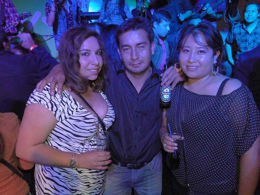Ariana Mejía, René Padilla y Karen Cuba.