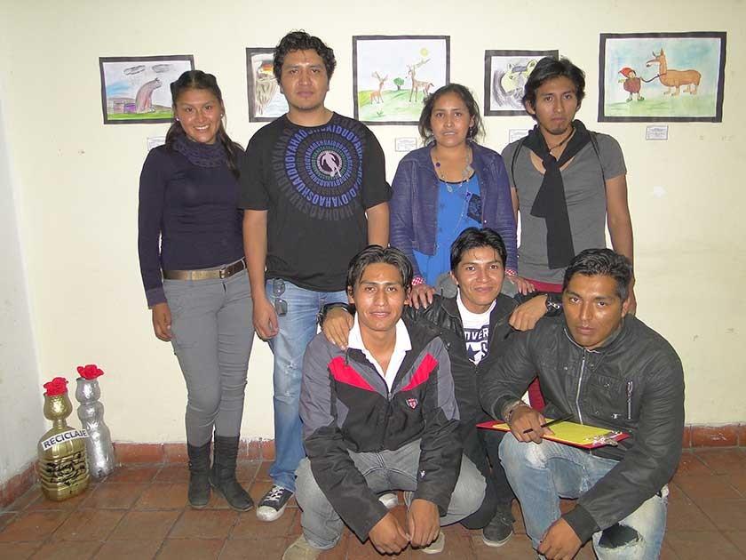 KAOS Bolivia: Oscar Pinto, Wilber Coronado, Jesús Mendoza, Susana Aduviri, Orlando Quispe  e Isabel Castro.
