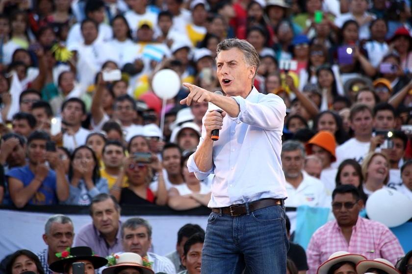 Mauricio Macri sería el ganador según las encuestas en boca de urna. Foto: EFE