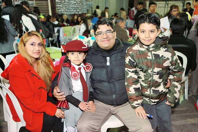 Soraya Sanabria, Belén, Omar y José Tardío.