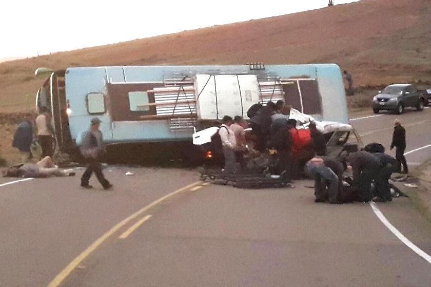 El accidente sucedió en la zona de La Ciénega. Foto: Gentileza