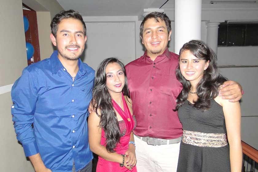 Diego Torrico, Helen Rodero, Jamil Estrada y Marisol Campos.
