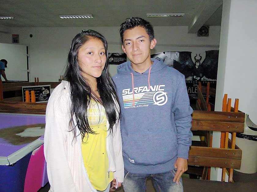 Marisol Porco y Hugo Quinteros.