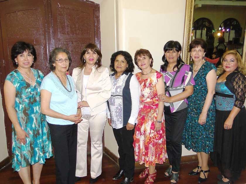 María Michel, Rosa Silva, Maricruz Mojica, Rita Vásquez, María Rivera, Janeth Gallo, Teresa Rivera y Martha Luz Cueto.
