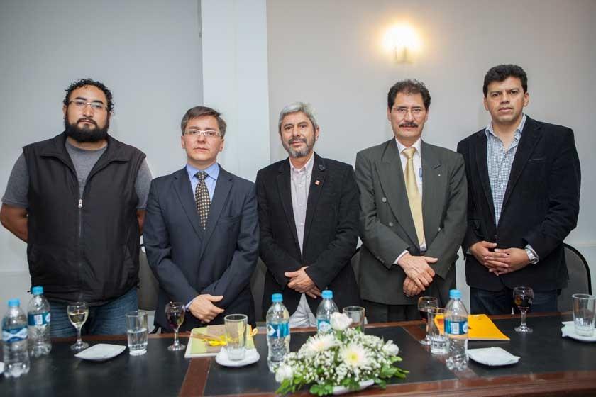 Marcelo Guzmán, Mauricio Quintanilla, Luis María Porcel, Hernán Vidaurre y Enzo Porcel.