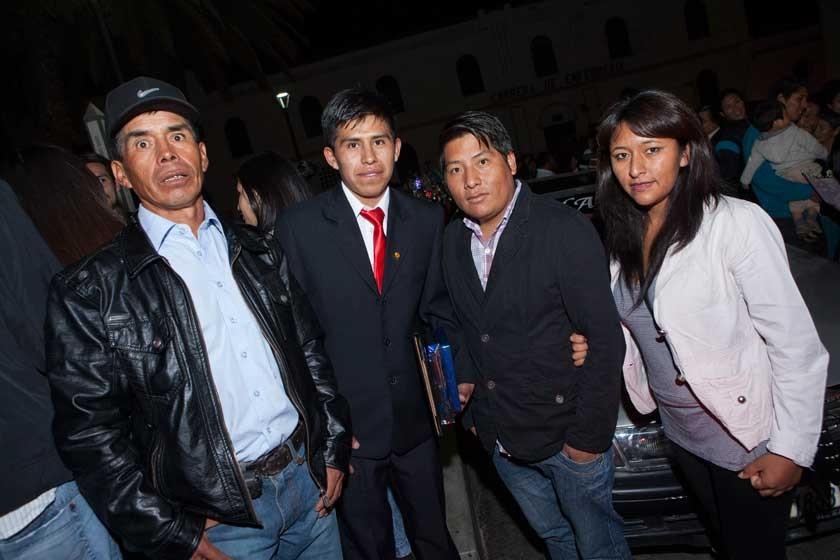 Andrés Flores, Edwin Flores, Jorge Achá y Gloria Girón