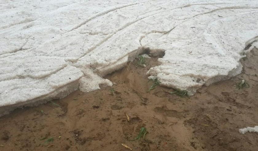 La granizada de Incahuasi. Foto: Gentileza