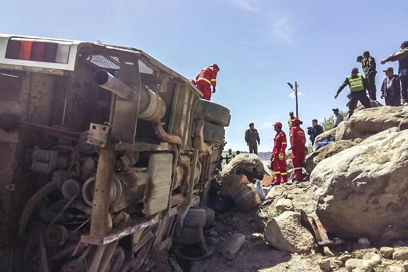 El accidente de hoy dejó siete muertos en la carretera. Foto: APG