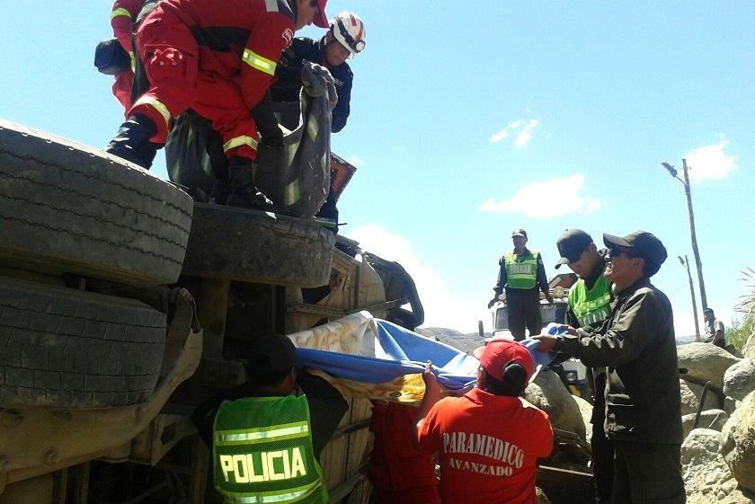 El accidente de hoy dejó siete muertos en la carretera. Foto: El Potosí