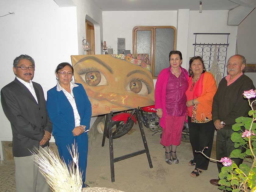Willy Rentería, Consuelo Sanz, Sofía Vilar, Sandra Camacho y Renata Vega.