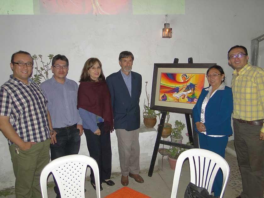 Jorge Daniel Marchant, Víctor Hugo Solís, María Suarez, Gastón Araoz, Consuelo Sanz y Álvaro Marchant.