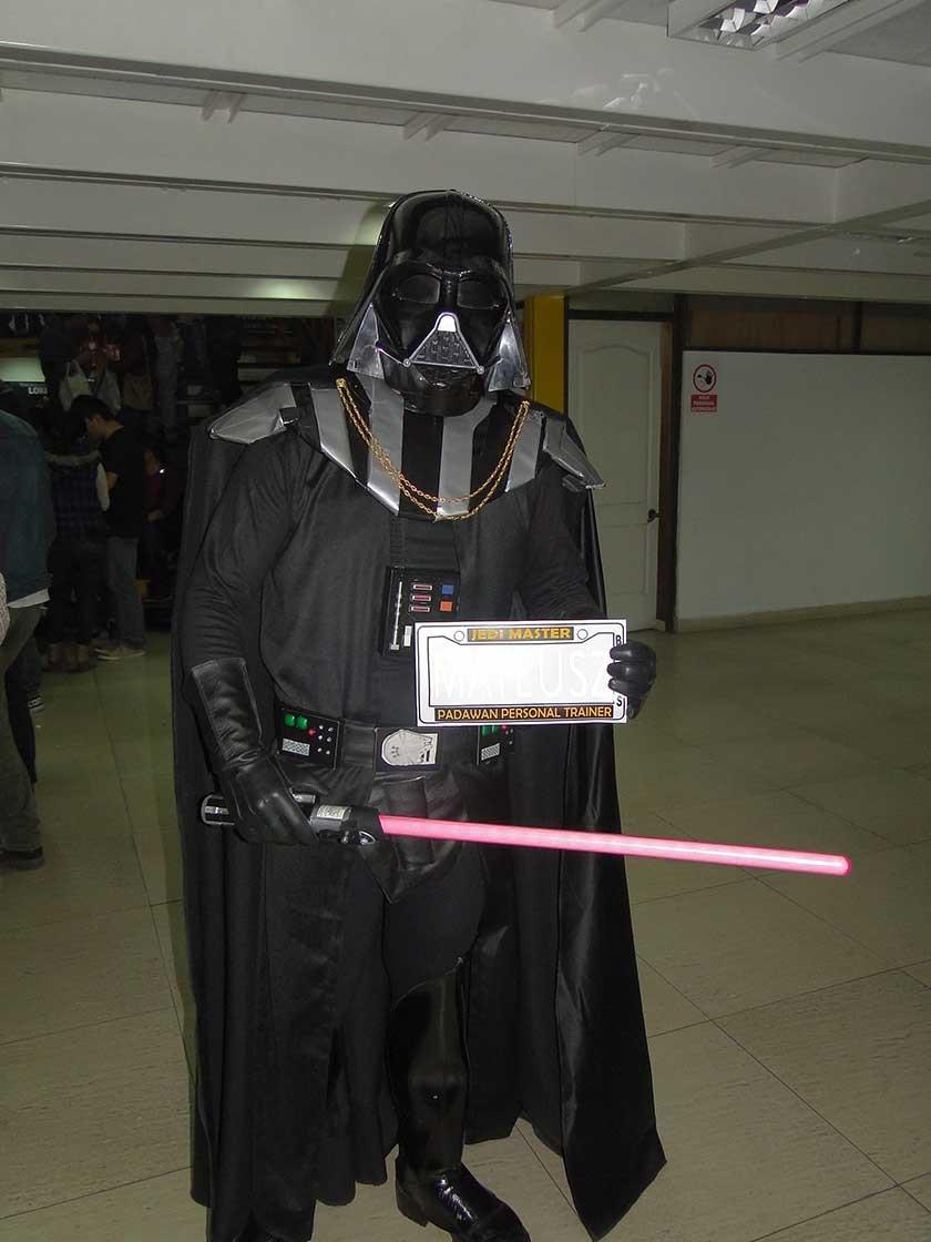 Mateusz Vader  llamó la atención de la gente.