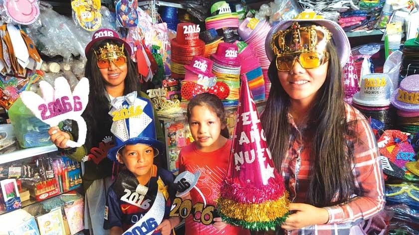Sucrenses se alistan para recibir 2016