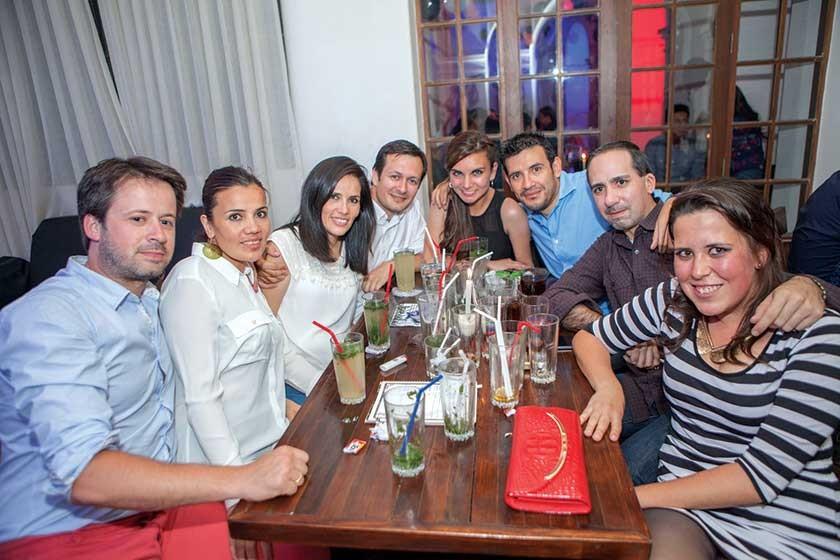 Julio Cesar Baldivieso celebró su cumpleaños con sus amigos.