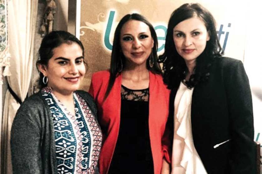 Fabiola Cáceres, Lizbeth Borja  y Fabiola Ramallo.
