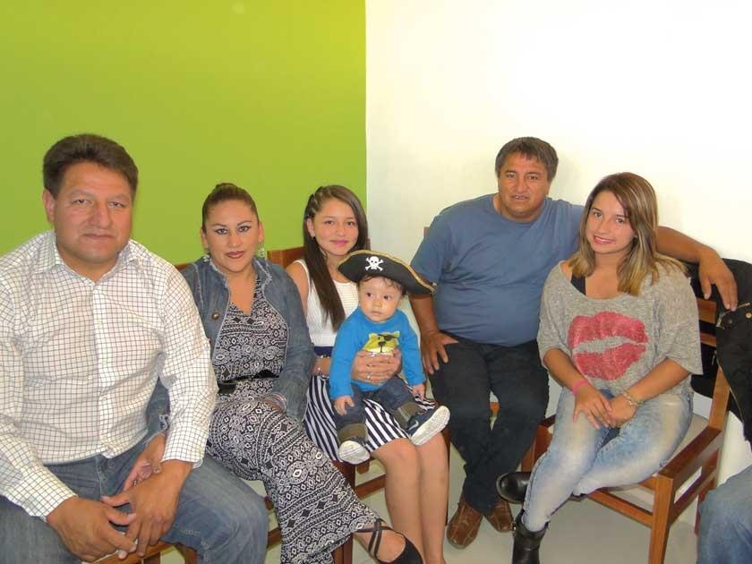 Franz Vega, Carmen Paniagua, Noelia Vega, Luis Vega y Cecilia Vega.