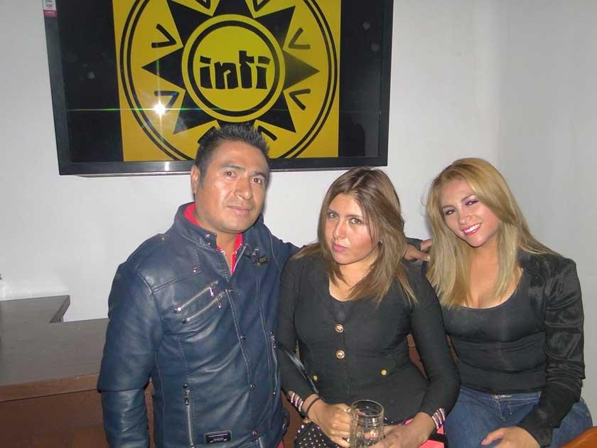 Iván Arancibia, Ximena Pérez y Cinthia Moscoso