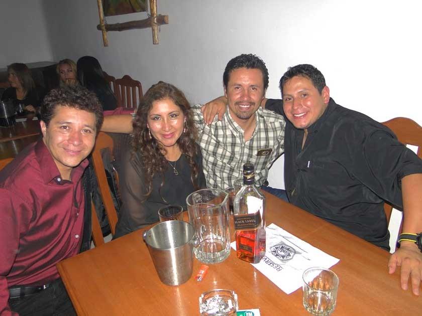 Gonzalo del Carpio, Grissel Rengel, Miguel del Carpio y Omar Flores.