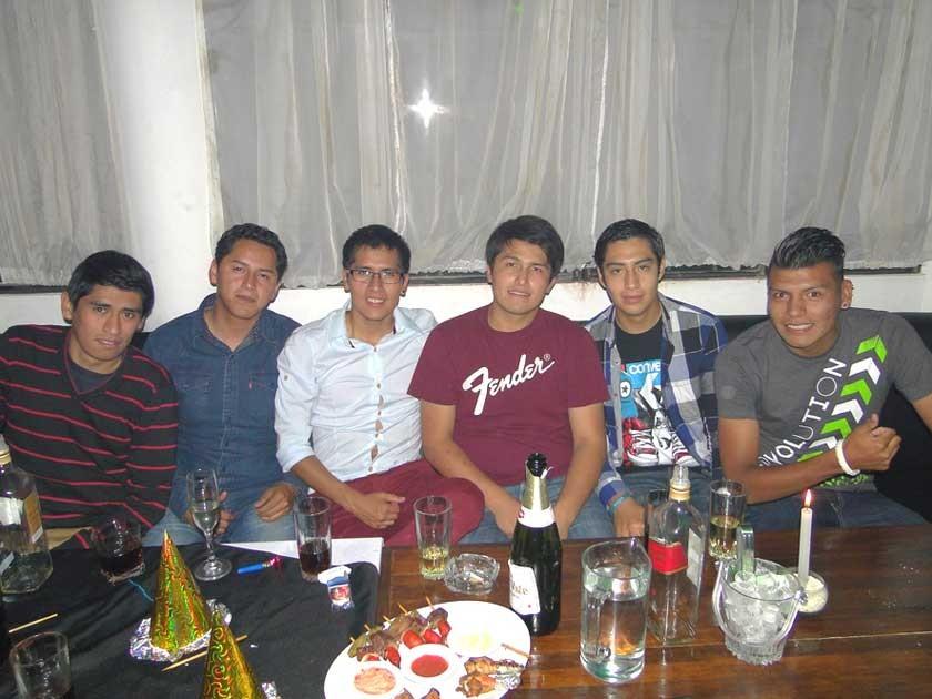 Mauricio, Miguel, Freddy, Jorge, Cristian y Waldo.