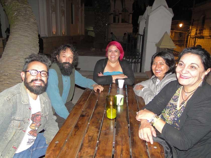 Alejandro González, Daniel Aguirre, Denise Arancibia, Alicia Arancibia  y Tonne Loayza.
