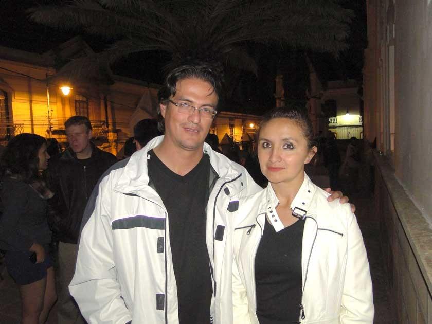 Yerko García y Gabriela Sejas.