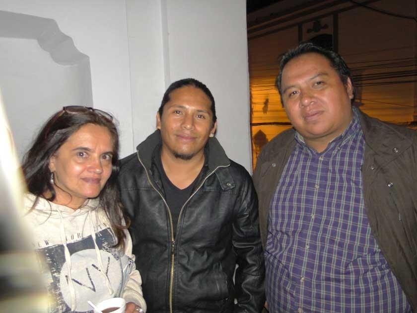 Amparo Silva, Oscar Cavero y Marco Moya.