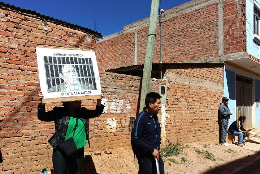 Víctimas del ex fiscal Quispe piden justicia. Foto: Henry Aira