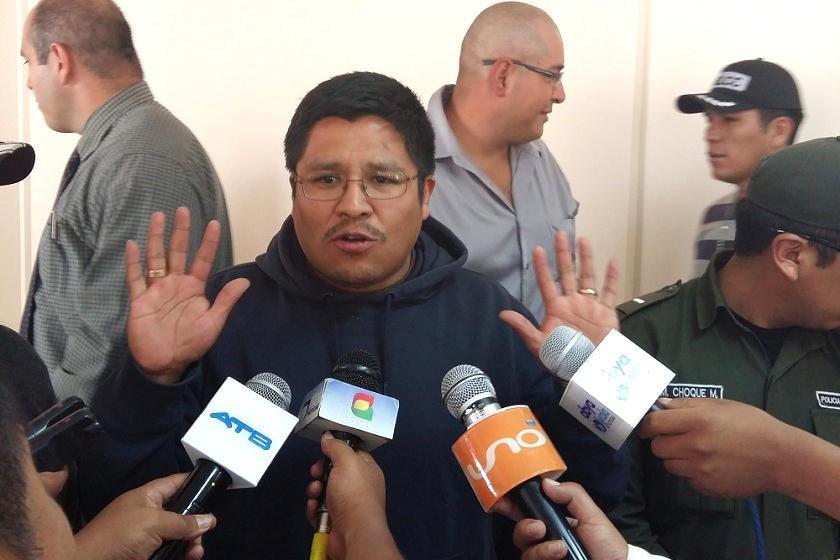 Humberto Quispe hizo declaraciones luego de la audiencia cautelar. Foto: Henry Aira