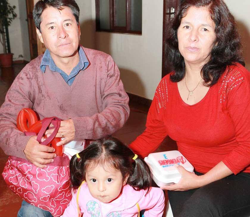 Roberto Díaz, Luciana Díaz y Mariam Villarroel.