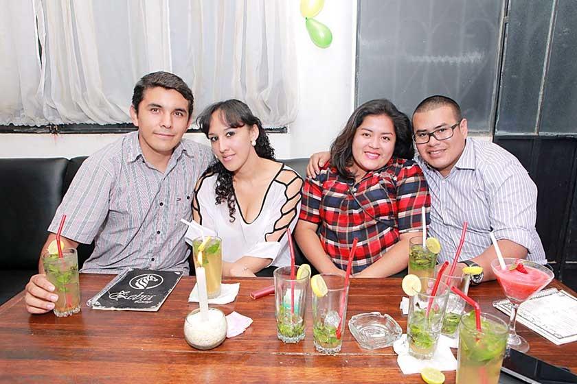 Fernando Parra, Katherine Ustares, Paola Mendoza y Hugo Baldivieso.
