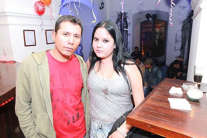 Eduardo Espada y Andrea Barrero.